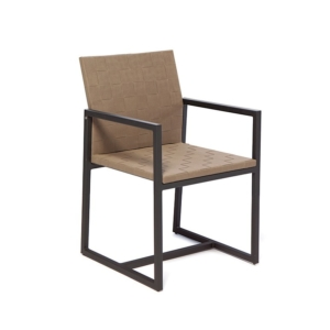 Ogrodowe krzesło jadalne z podłokietnikami Otto
