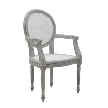Ogrodowe krzesło klasyczne jadalne z podłokietnikami Mozaic