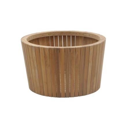 Okrągła donica drewniana Tennis
