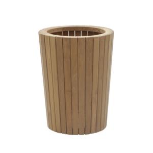 Okrągła osłona na donicę z drewna Tennis