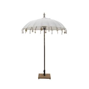 Okrągły parasol dekoracyjny zewnętrzny drewno 180cm British India