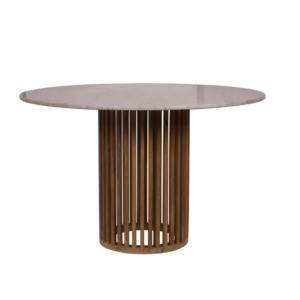 Okrągły stół kawiarniany zewnetrzny z marmurowym blatem Code