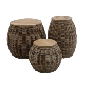 Okrągły stolik pomocniczy zewnętrzny stołek Bango Bongo