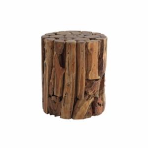 Okrągły stolik pomocniczy zewnętrzny stołek  Radice