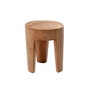 Okrągły stolik pomocniczy zewnętrzny stołek Suar