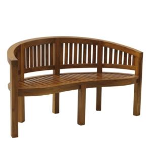 Półokrągła ławka ogrodowa z drewna Garden Washington Georgetown