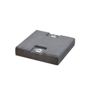 Podstawa pod parasol czarny cement z uchwytami Piastra Ombrelloni