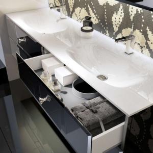 Podwójna umywalka z szafką Lux Qin