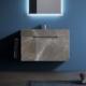 Podwieszana umywalka z szafką Cube Qin