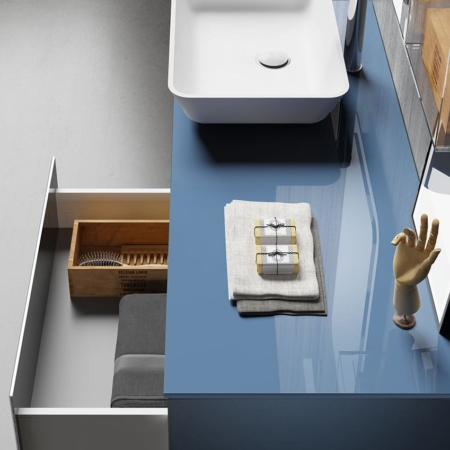 Podwieszana umywalka z szafką H24 03 Qin