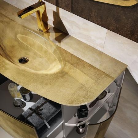 Podwieszana umywalka z szafką Odeon O120 Qin
