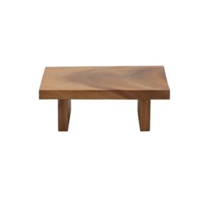 Prostkątny stolik kawowy z drewna zewnętrzny Suar