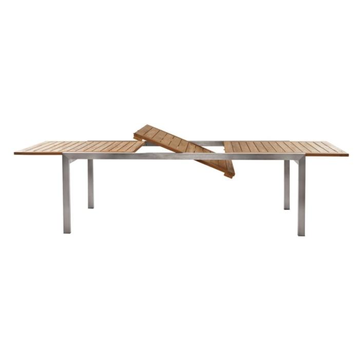 Prostokątny stół jadalny zewnętrzny rozkładany Teak Adamas