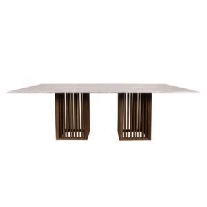 Prostokątny stół zewnętrzny z marmurowym blatem Code