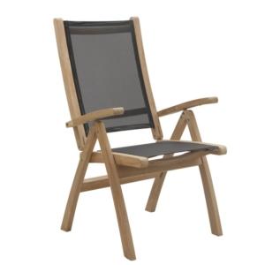 Regulowany fotel jadalny ogrodowy 5 pozycji Macao