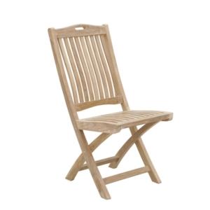 Składane krzesło ogrodowe jadalne Moon