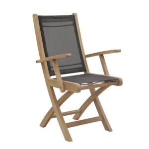 Składane krzesło ogrodowe z podłokietnikami Macao