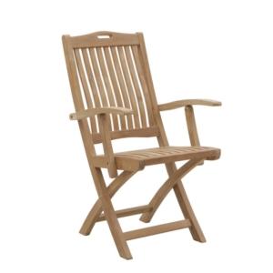 Składane krzesło ogrodowe z podłokietnikami Moon