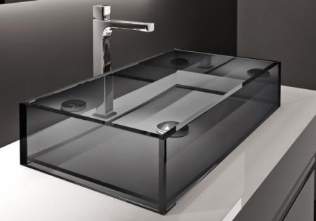 Szklana umywalka z szafką QLINE Q216 Qin