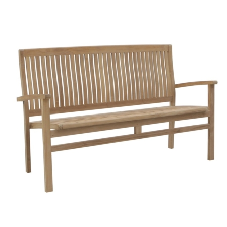 Sztaplowana ławka ogrodowa z oparciem Onda Savana