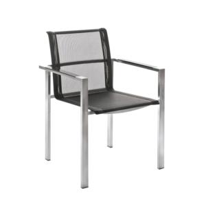 Sztaplowane krzesła ogrodowe Adamas