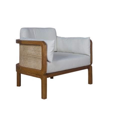 Tapicerowany fotel ogrodowy Dual