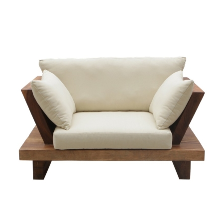 Tapicerowany fotel ogrodowy Suar