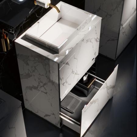 Umywalka z szafką Assolo Qin
