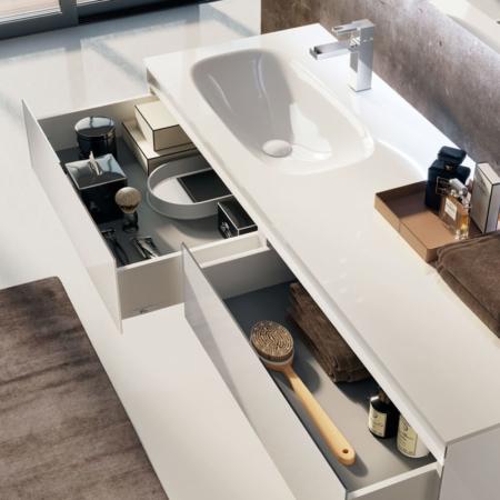 Szeroka umywalka z szafką Zero Z1442 Qin