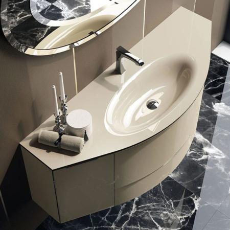 Umywalka z szafką glamour Zerosette Qin