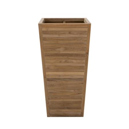 Wysoka donica kosz zewnętrzny z drewna Obelisk