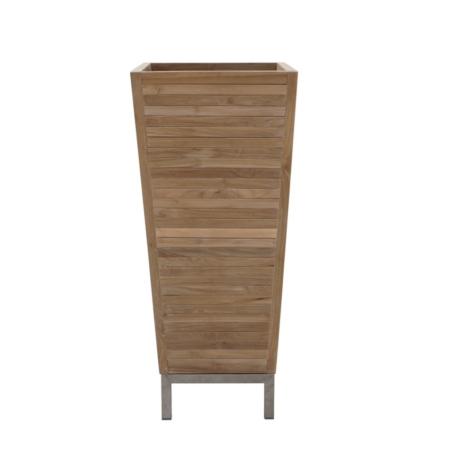 Wysoka donica zewnętrzna z drewna Obelisk