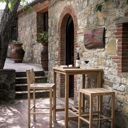 Wysoki stół kawiarniany zewnętrzny Bar Savana 1