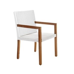 Zewnętrzne krzesła jadalne z podłokietnikami Fiji
