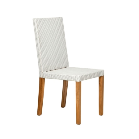 Zewnętrzne krzesło jadalne z wysokim oparciem Fiji