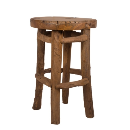 Zewnętrzny stołek barowy z korzenia Radice