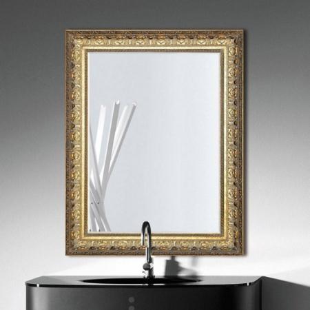 Dekoracyjne lustro łazienkowe w klasycznej ramie Frame