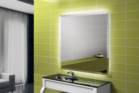 Dekoracyjne lustro łazienkowe z oświetleniem Diamant