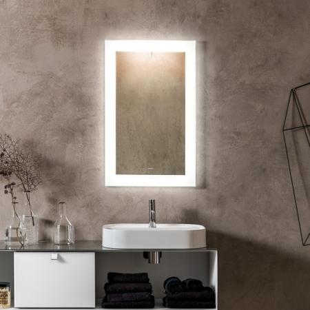 Dekoracyjne lustro łazienkowe z podświetlaną ramą Luminee