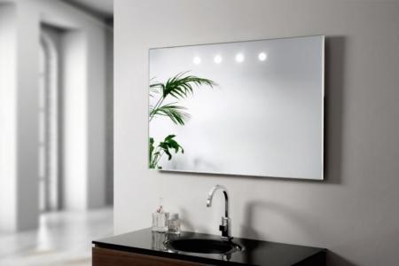 Dekoracyjne lustro łazienkowe z podświetleniem Argento