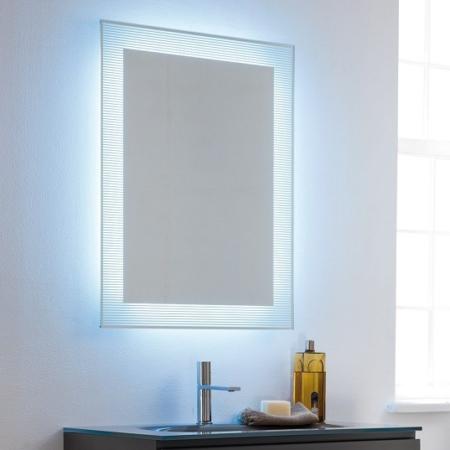 Dekoracyjne lustro łazienkowe z podświetleniem Barcode