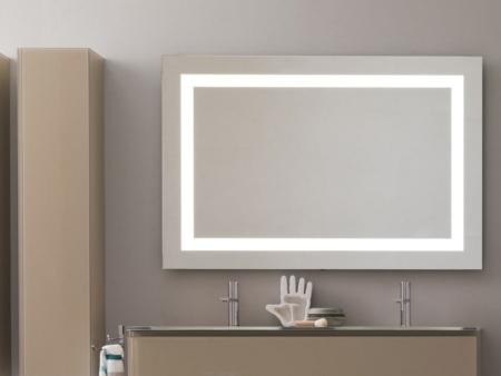 Dekoracyjne lustro łazienkowe z podświetleniem Flash