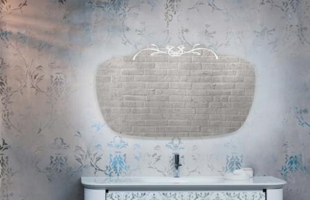 Dekoracyjne lustro łazienkowe z podświetleniem Incanto