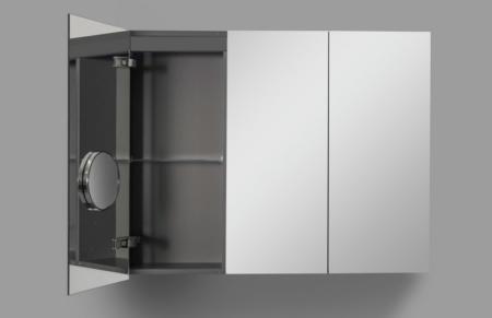 Dekoracyjne lustro łazienkowe z szafką Box