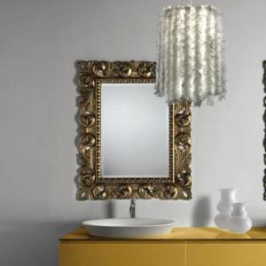 Klasyczne lustro łazienkowe z podświetleniem Retro