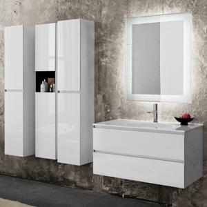 Nowoczesny zestaw mebli łazienkowych Domino