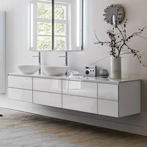 Nowoczesny zestaw mebli łazienkowych Monolite 18