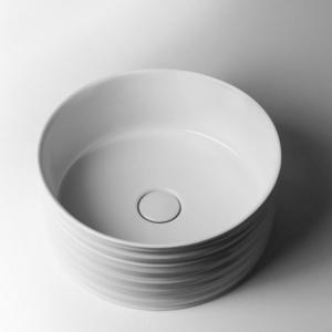 Okrągłe i owalne umywalki łazienkowe wpuszczane w blat Ceramic