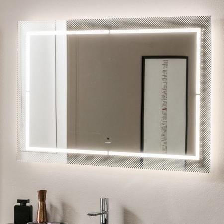 Prostokątne lustro łazienkowe z podświetleniem Laser