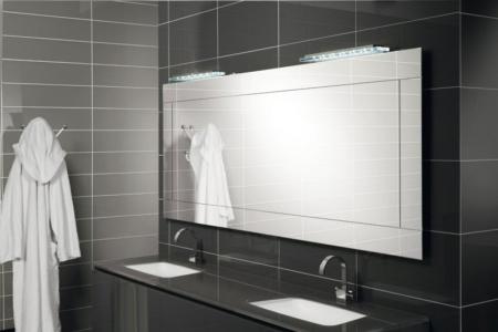 Prostokątne lustro łazienkowe z podświetleniem Tetris